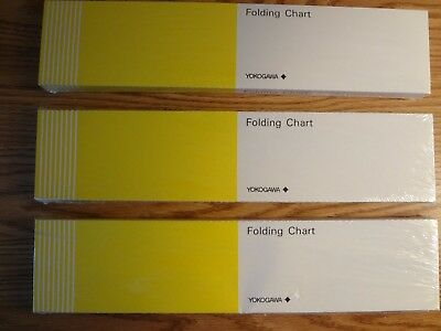 Lot of 3 new YOKOGAWA Folding Charts N. B9538RN