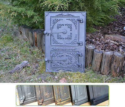 29 x 44,5 cm Cast iron fire door clay bread oven stove smoke house furnace DZ061
