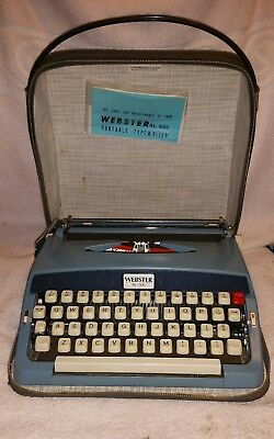 Vintage Brother Portable Manual Typewriter with Case Webster XL-500 1965. NM.