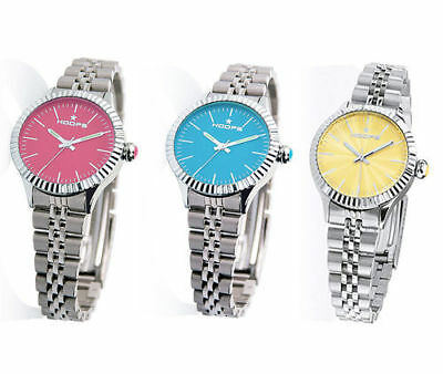 Orologio Hoops LUXURY SILVER In Acciaio Donna Estate Pink Yellow Blu NEW 2018