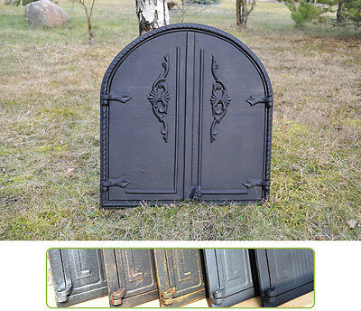 57 x 61cm Cast iron fire door clay / bread oven / pizza stove smoke house DZ018