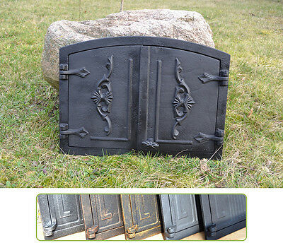 55,5x41cm Cast iron fire door clay / bread oven / pizza stove smoke house DZ017