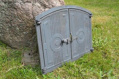 480 x 380mm Natural Cast iron fire door clay bread oven pizza stove smoke house