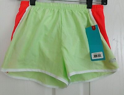 5a35853ba7fdc NEW BALANCE Lightning Dry Womens Running Training Shorts Green Lined Small  S NEW