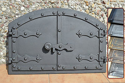 535 x 358mm Cast iron fire door clay / bread oven / pizza stove smoke house