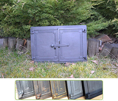 47,5x32,5 Cast iron fire door clay / bread oven / pizza stove smoke house DZ060