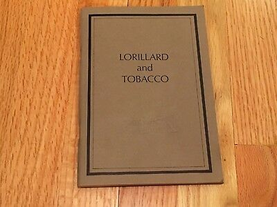 Collectible Lorillard And Tobacco Pamphlet, NOS
