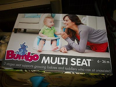 Pickup Only Nib Blue Bumbo 3- Stage Multi Baby Seat With Tray For 6 To 36 Months