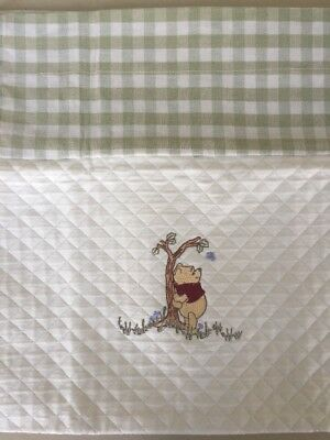 Disney Kidsline Winnie the Pooh Tiger Embroidered Valance Quilted Green Gingham