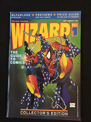 WIZARD #1 THE GUIDE TO COMICS COLLECTOR'S EDITION Magazine Poster Intact FN+