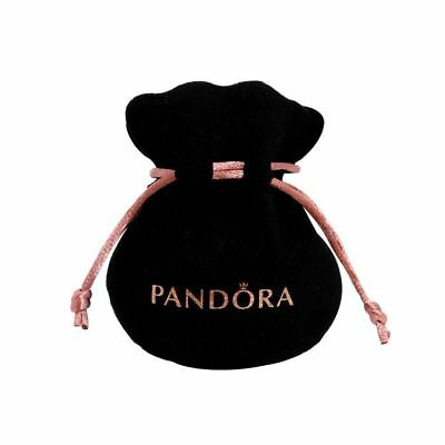 NEW PANDORA Black Velvet felt jewellery Pouch Charms Bracelets earrings gift bag