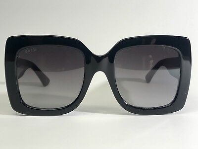 87f14021bdb NEW AUTHENTIC Gucci GG0083S 008 Black Grey 55-24-140 Sunglasses Made In  Italy
