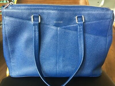 de81bc65455 Rare Large Saffiano Leather Cole Haan American Airlines Flight Attendant  Tote