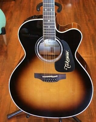 Takamine P6JC-12 strings - Sunburst Gloss Sunburst acoustic guitar