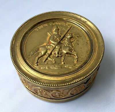 c.1815 RUSSIAN IMPERIAL TZAR ALEXANDER I & DON COSSACK SECRET BOX ABS UNUSUAL
