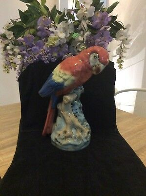 Royal Dux Parrot Maccaw Large Size Excellent Condition