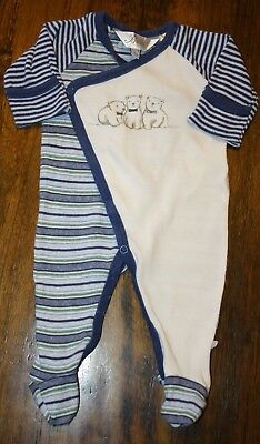 Bebe By Minihaha Baby Boys Coverall / Romper.  Size 0000.  In Euc