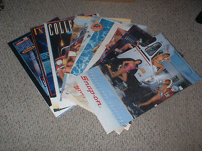 Vintage Lot Of 8 Snap On Calendars: 1987 To 1994