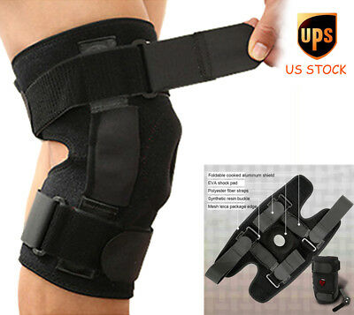 Hinged Knee Support Brace Open Patella Wraparound Stabilizer Sports Strap Wrap