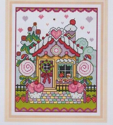 Gingerbread House - sweet cross stitch chart - Lesley Teare