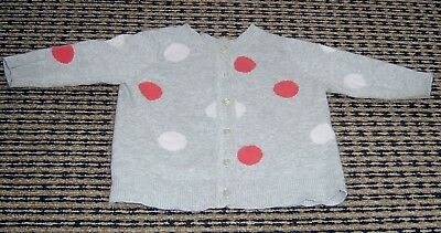 Seed Heritage Baby Girls Cotton Cardigan Sz  0 -  3 Months