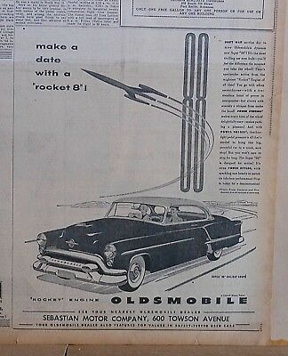 1953 newspaper ad for Oldsmobile - Super 88 Holiday Coupe Don't wait another day
