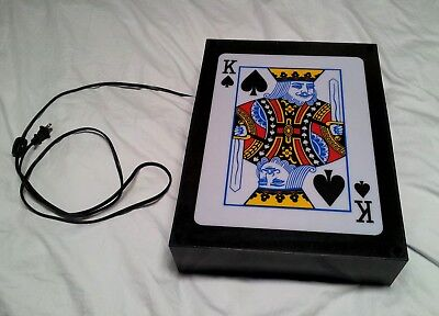 Vintage Rabbit Tanaka King Of Spades Playing Card Bar Sign Lamp Light Box