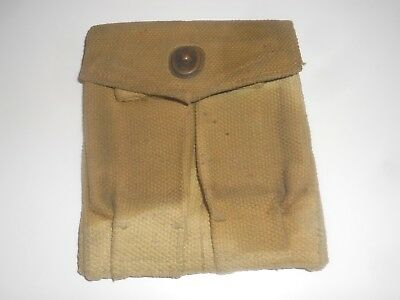 Ww2 1911A1 .45 Magazine Pouch, Double, Also Fits 2 M1 Carbine Mags,united Carr