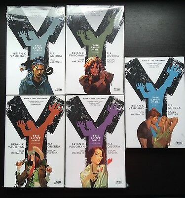 Y - THE LAST MAN Book/Vol. 1+2+3+4+5 Komplette Serie US-TPB Paperback Vertigo TP