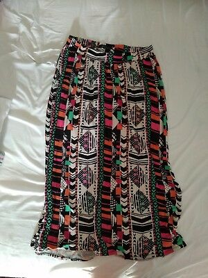 Colourful Comfy Summer Maternity Maxi Skirt Size 12 Next