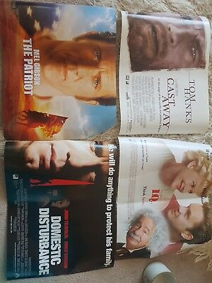HOLLYWOOD OLD MOVIE FILM POSTERS BUNDLE x 20 - MOVIE POSTERS 90's RARE
