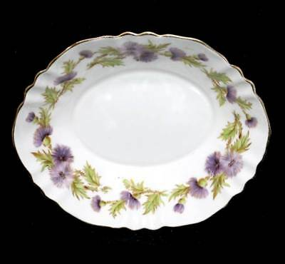 Vintage Paragon Highland Queen purple thistle fluted trinket bowl