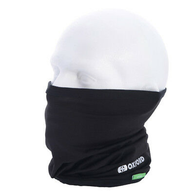 NEW Oxford Products Motorcycle Rider Thermals Cotton Neck Tube - Black (CA100)
