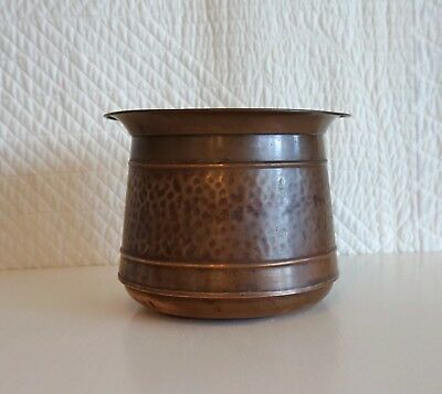 Antique Hales Solid Copper Arts and Crafts Jardiniere Planter with Patina