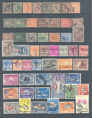 Singapore/malaya Selection All Stamps Fine/very Fine Used High Catalogue Value