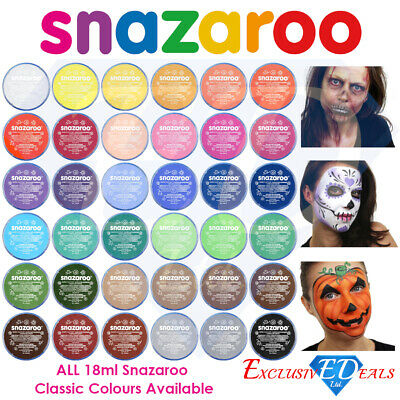 Snazaroo Face Paint & Body Make Up Many Colours Stage Fancy Dress Halloween 18ml