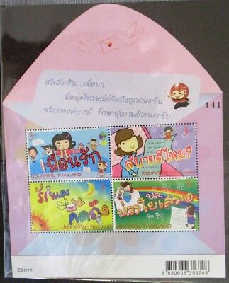 Thailand Letter Writing Week Miniature Sheet MUH