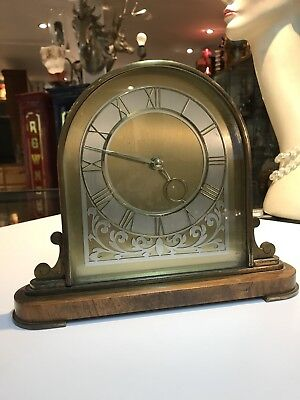 Art Deco Walnut Clock.