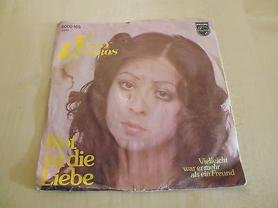 "Vicky Leandros – Rot Ist Die Liebe Vinyl, 7"", 45 RPM, Single ´ 1974 Philips"