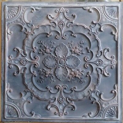 Old Ceiling tile faux tin wood gray KTV club decor wall panel PL19 10pcs/lot