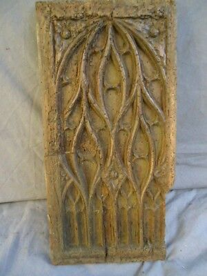 16Th Century Small Oak Carved Gothic    Panel ,