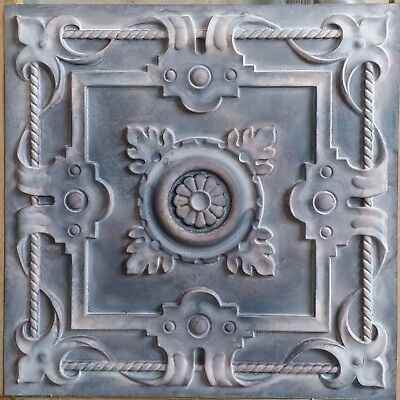 Old Ceiling tile faux tin wood gray KTV club decor wall panel PL29 10pcs/lot