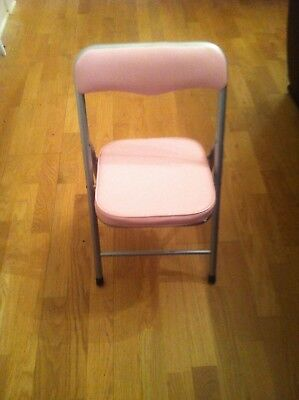 Childs Pink Padded Folding Chair