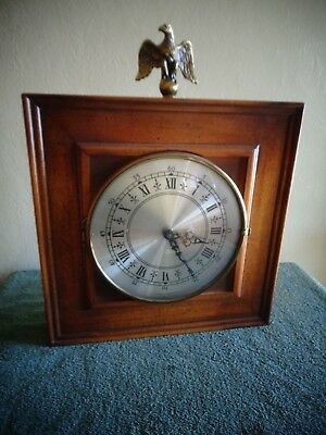 Vintage P.F. Bollenbach Early American Wall Clock Brass Eagle Decor