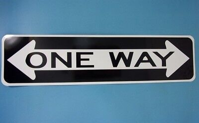 "CRAZY ONE WAY STREET SIGN 6"" X 24""  Aluminum Street Sign MADE IN THE USA"