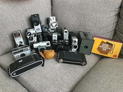 Lot of 16 vintage cameras, inc cine & film