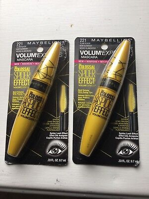 f9997949b7e MAYBELLINE COLOSSAL SPIDER Effect Mascara - Glam Black 221 - lot of ...