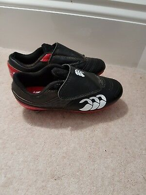 Kids canterbury football/rugby boots size 12