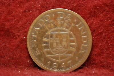 Portuguese - India, 1947 Tanga, Very Fine, some marks, Or Best Offer,      mab12