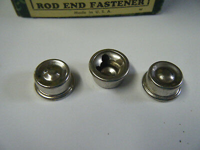 "Lot of 8----5/16"" Rod 5/8 Dia cap nut push on lock pedal Car  tricycle bike axle"